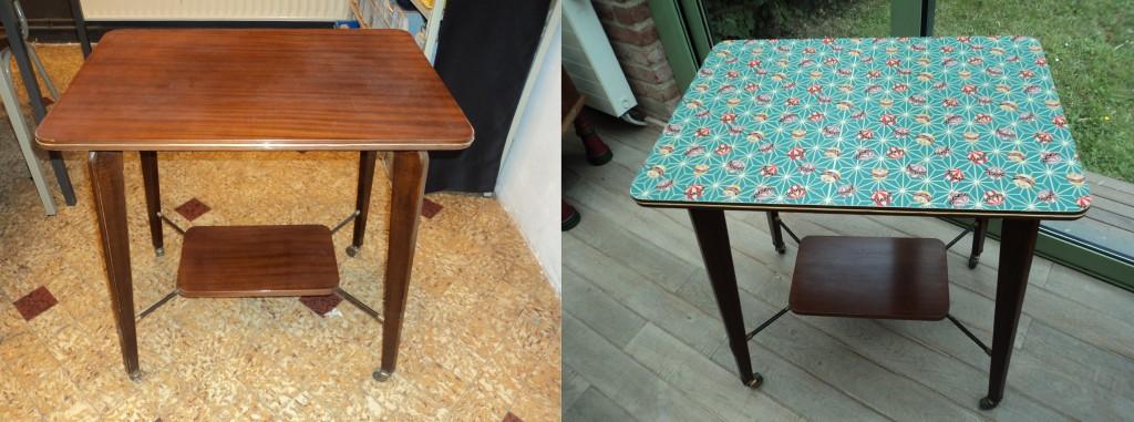 Table TV Vintage Avant-Après