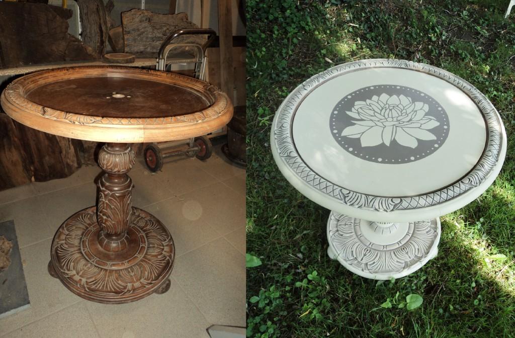 Table de lampadaire Avant-Après